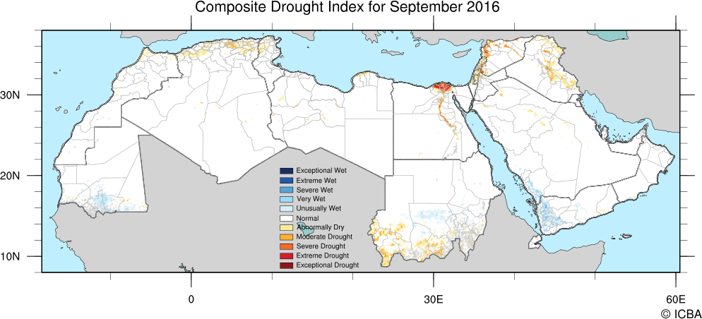 MENA CDI map for September 2016