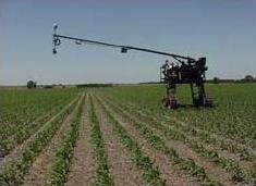 "CALMIT's ""Goliath,"" a novel mobile remote sensing platform adapted from a Hagee agricultural sprayer."